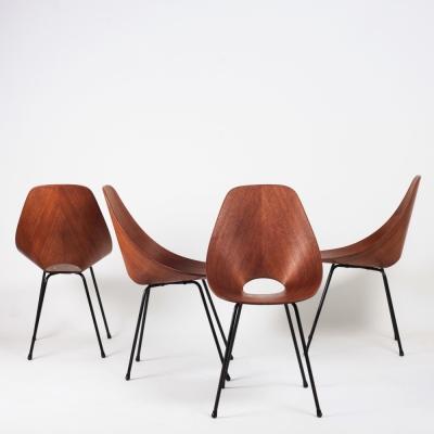 Perlapatrame - meubles - objets - vintage - 4 CHAISES MEDEA