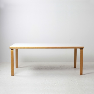 Perlapatrame - meubles - objets - vintage - TABLE A MANGER ALVAR AALTO