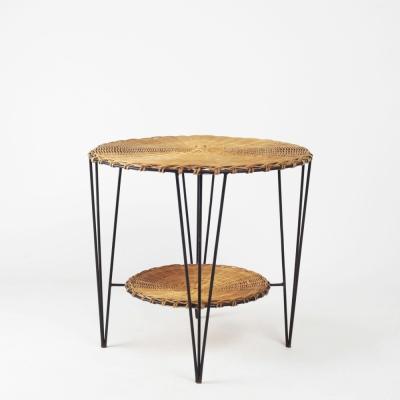 Perlapatrame - meubles - objets - vintage - GUERIDON OSIER 1950s