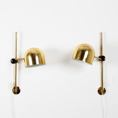 Perlapatrame - meubles - objets - vintage - PAIRE APPLIQUES SUEDE 60s
