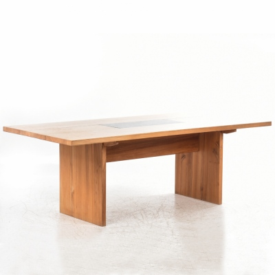 Perlapatrame - meubles - objets - vintage - TABLE DE REPAS ORME MASSIF