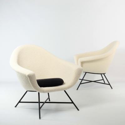 Perlapatrame - meubles - objets - vintage - FAUTEUILS DANGLES DEFRANCE