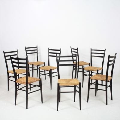 Perlapatrame - meubles - objets - vintage - 8 CHAISES ITALIE 1960s
