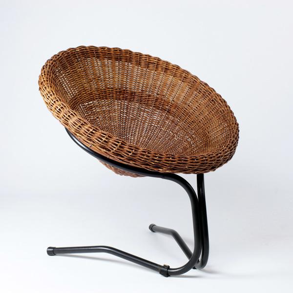 Perlapatrame - meubles - objets - vintage - FAUTEUIL ROTIN DE MESQUITA