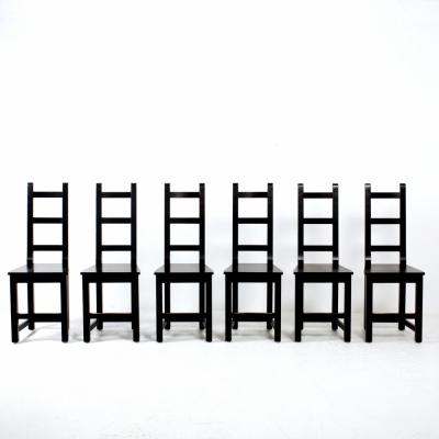 Perlapatrame - meubles - objets - vintage - 6 CHAISES SUEDE 1980
