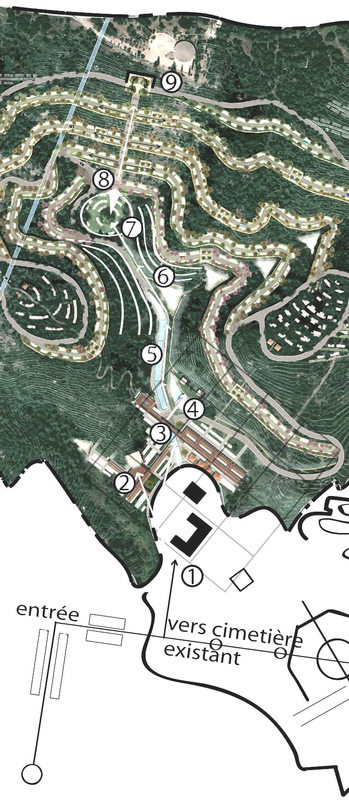 Architecte Marseille - Agence Elbaz Architecture à Marseille (13007) - Plan masse zoomé