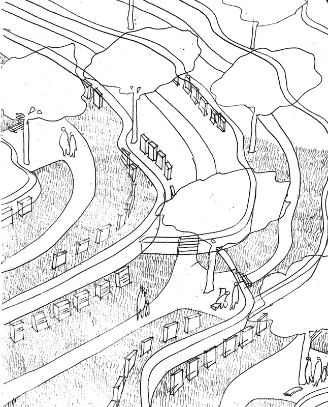 Architecte Marseille - Agence Elbaz Architecture à Marseille (13007) - Croquis dambiance 1
