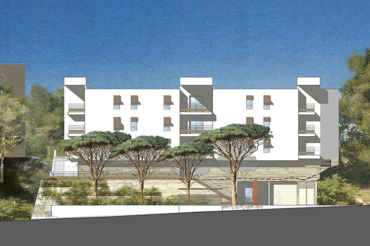 Architecte Marseille - Agence Elbaz Architecture à Marseille (13007) - Les logements semblent donc posés sur une colline naturelle.