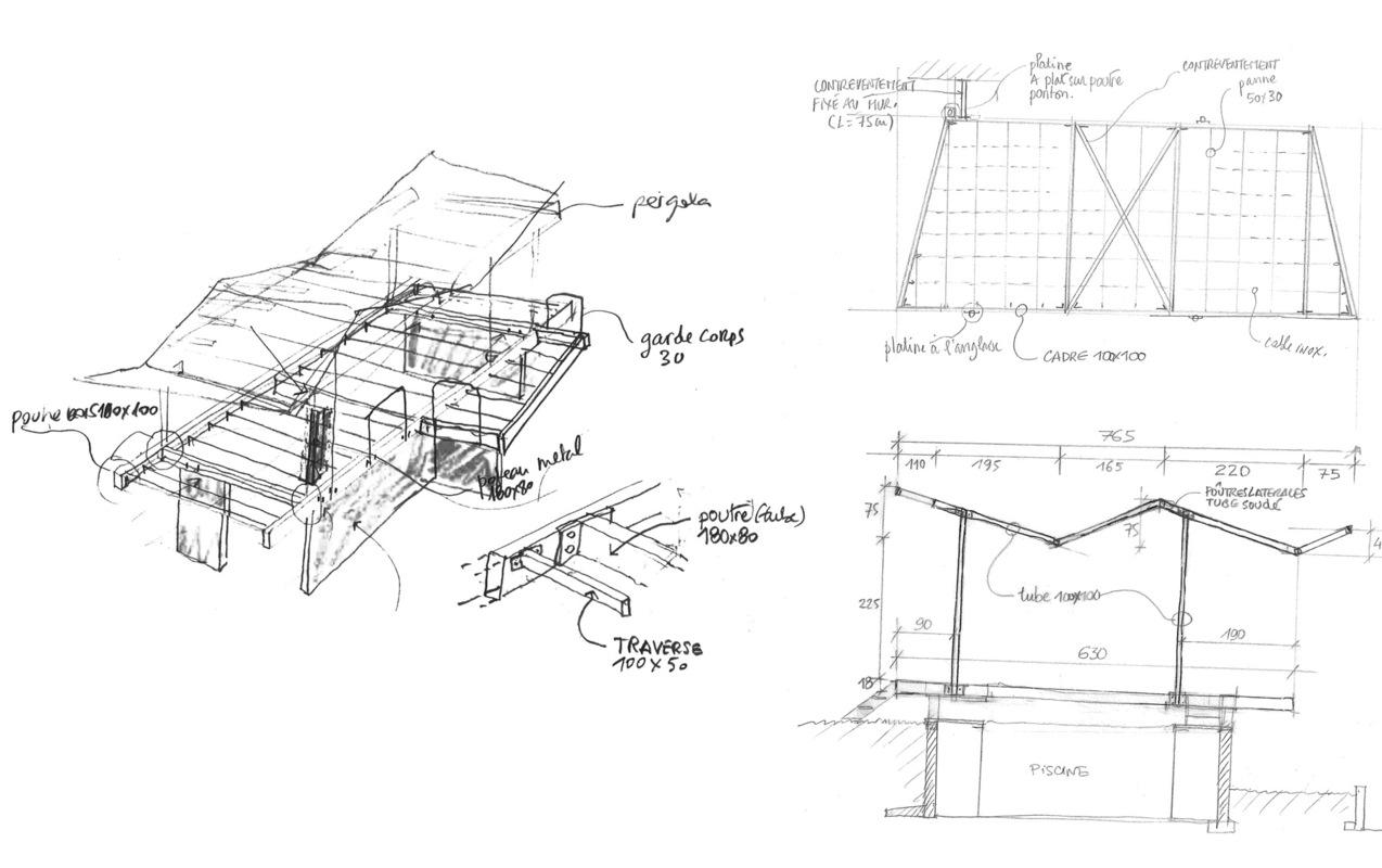 Architecte Marseille - Agence Elbaz Architecture à Marseille (13007) - Toutes les serrureries utilisées sont en acier galvanisé.