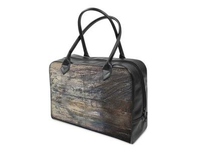 Graphit und Farbe - Handtasche Foggy