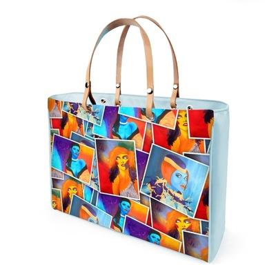Graphit und Farbe - Handtasche PortraitFarbe
