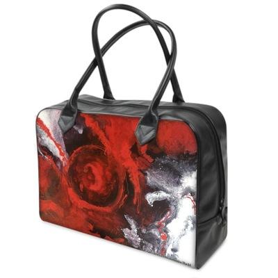 Graphit und Farbe - Handtasche RedVision