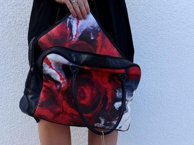 Graphit und Farbe - Handtasche, Laptoptasche RedVision