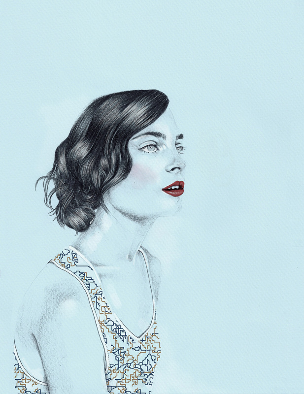 Laura Searle - Illustrations for the À MOI NY SS2015 Collection showcased at NYFW