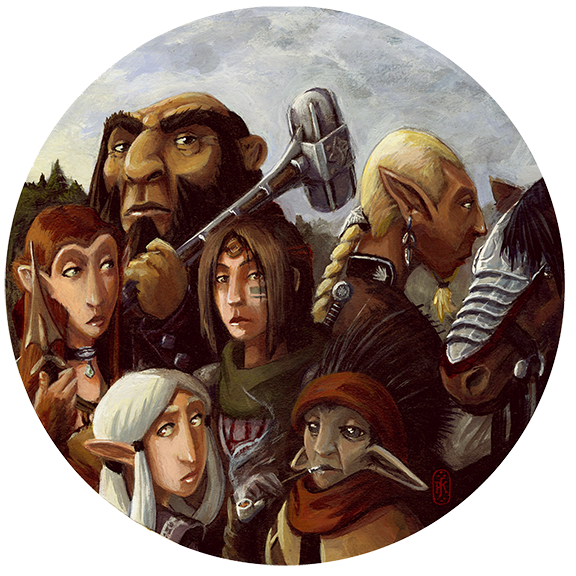 PJ Kempen :: Online Art Gallery - Gathered Heroes