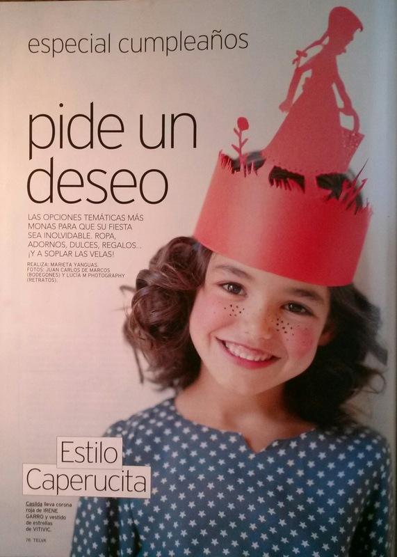 Mara Fervi - Telva niños Octubre 2014 Maquillaje y peluquería