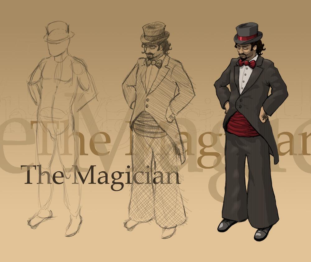 myPortfolio - The Magician - character concept