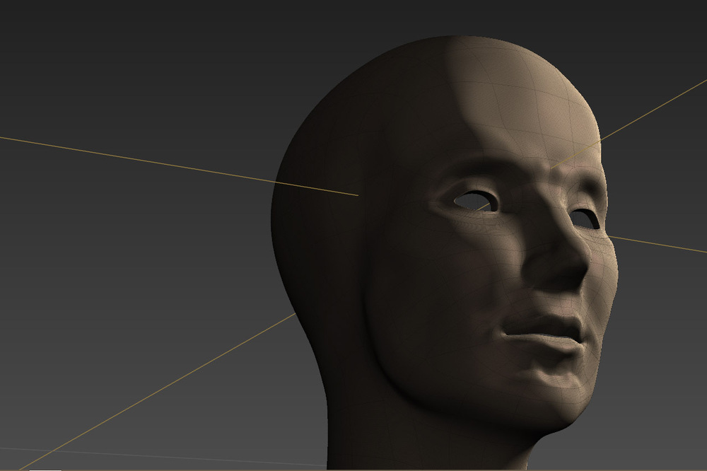 myPortfolio - This image shows a male head that I sculpted in Mudbox out of a simple base mesh weve created at school.