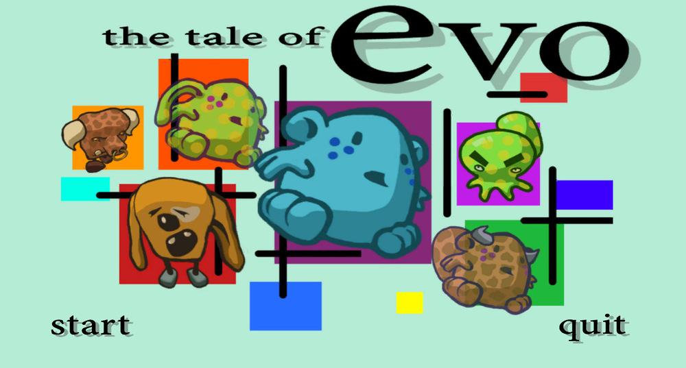 myPortfolio - The Tale of Evo - title page design