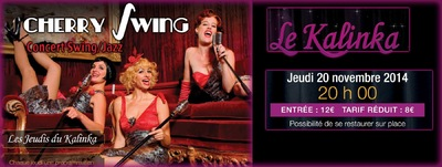Will B. Photographie - SPECTACLE CHERRY SWING - CABARET LE KALINKA - 20 NOVEMBRE 2014
