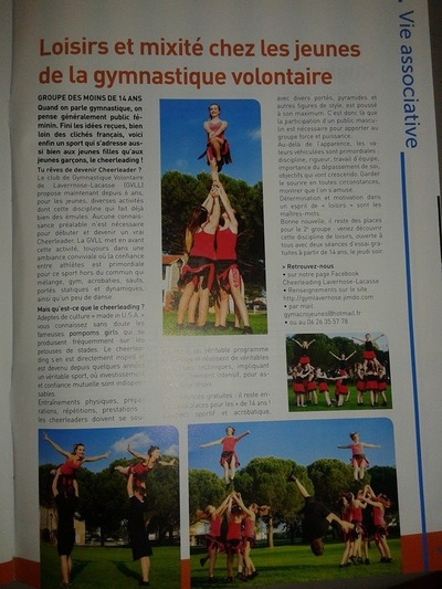Will B. Photographie - ILLUSTRATION POUR LE CLUB DE CHEERLEADERS DE LAVERNOSE LACASSE - JOURNAL COMMUNAL 2014