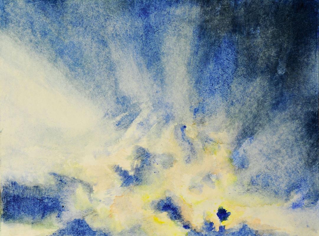 S.K. Artist Portfolio - Taivaat, akvarelli