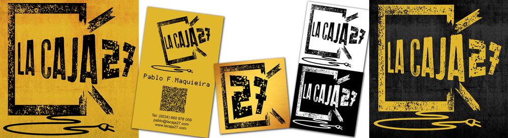 Juan Vega Martínez - Creación de logotipo e identidad corporativa para La Caja 27