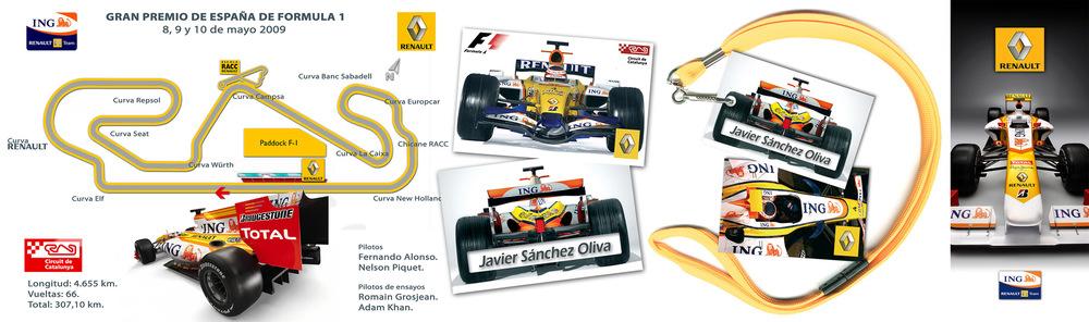 Juan Vega Martínez - Soportes Gráficos para el Gran Premio de Formula 1 de España, Renault ING