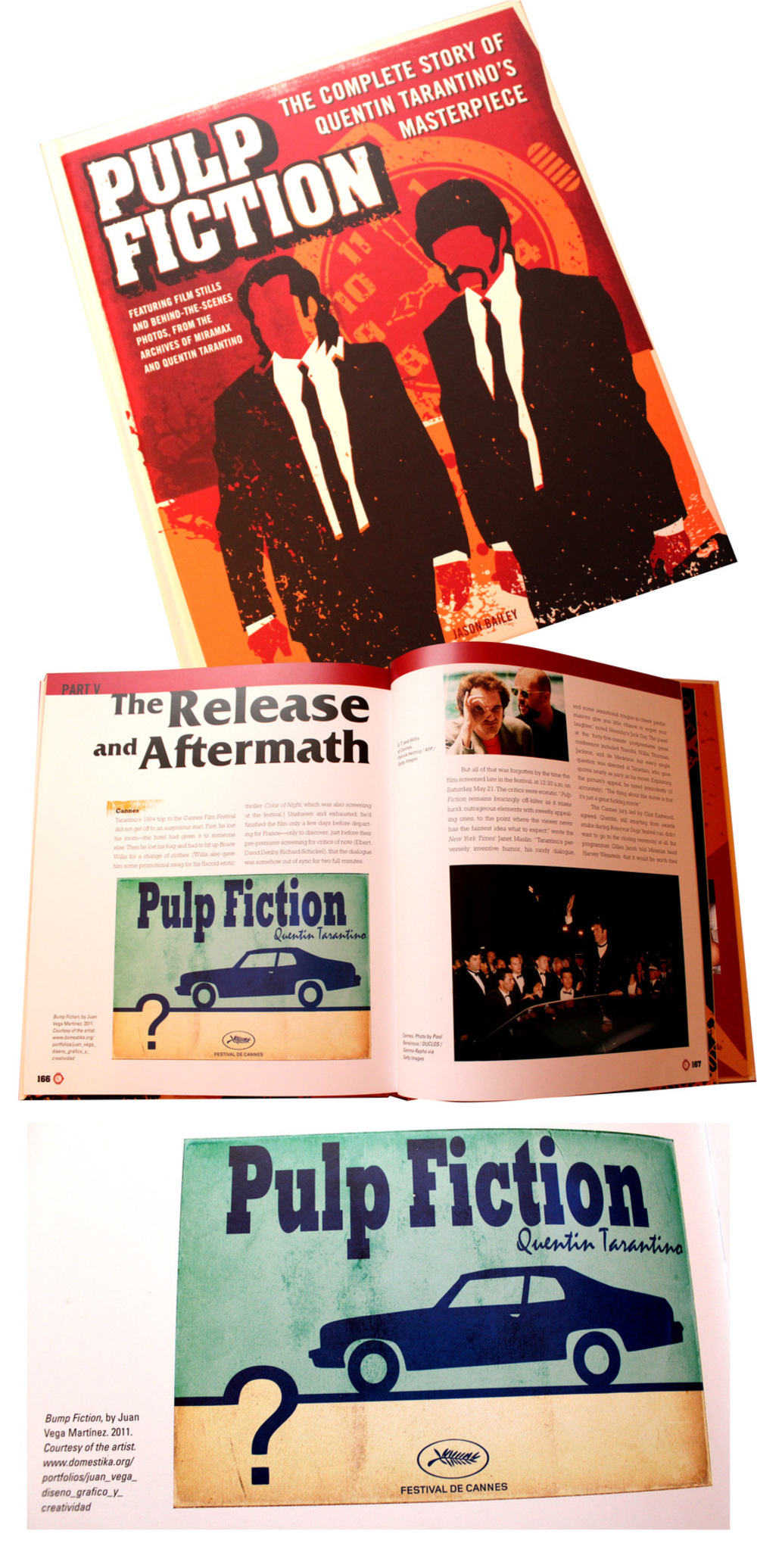 Juan Vega Martínez - Diseño para ilustrar el libro Pulp Fiction, The Complete Story Of Tarantino´s Masterpiece escrito por Jason Bailey. Editorial Boyageur Press.