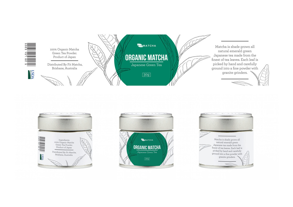 Lara-Jane van Antwerpen - Organic Matcha tea Packaging Design (Finalist)