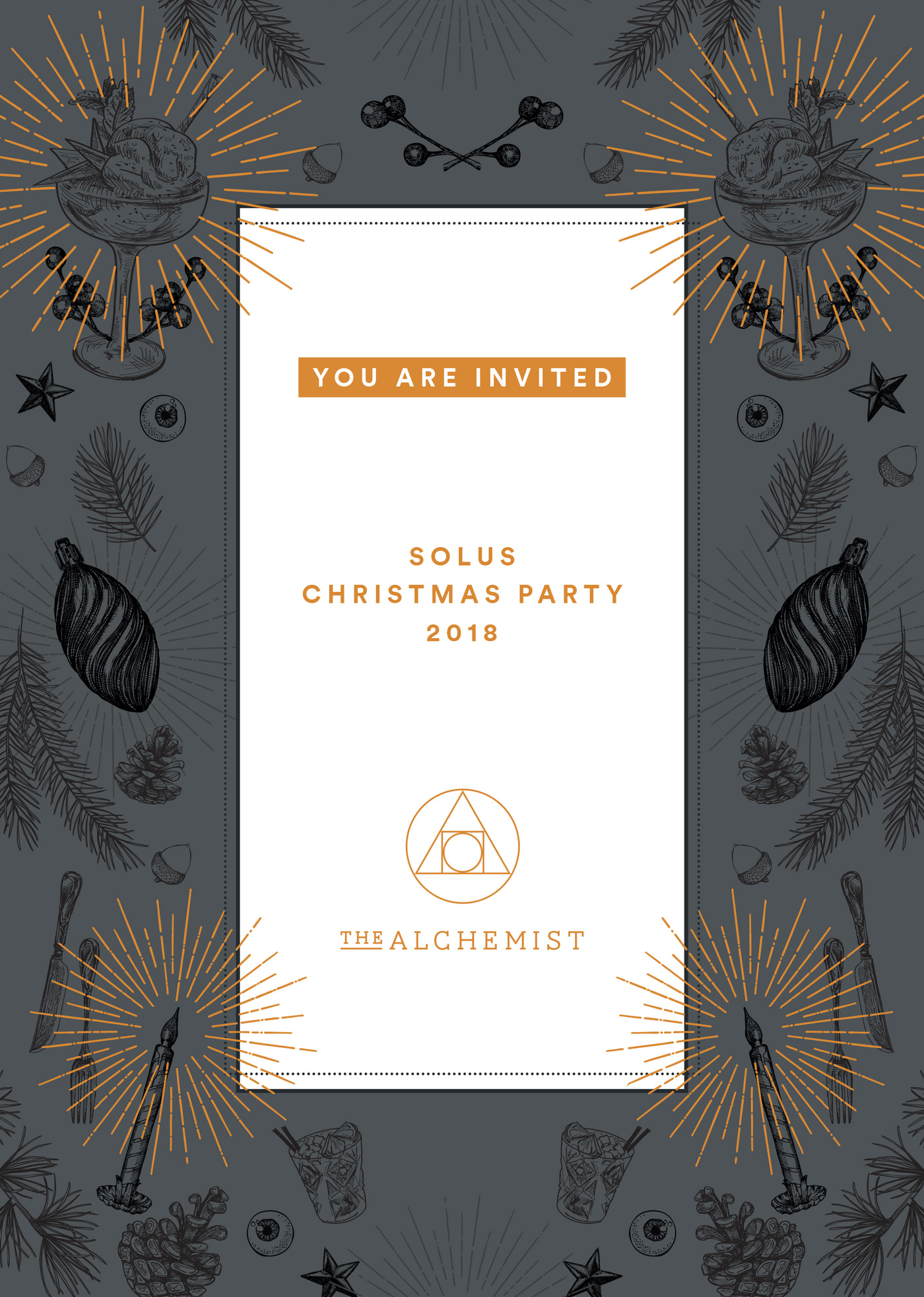 Lara-Jane van Antwerpen - Christmas Office Invite Front