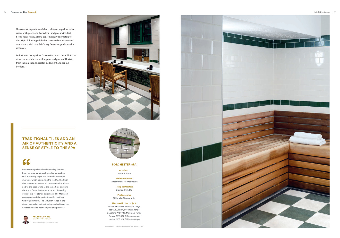 Lara-Jane van Antwerpen - Quarter Magazine Issue 20 - Porchester Spa Article