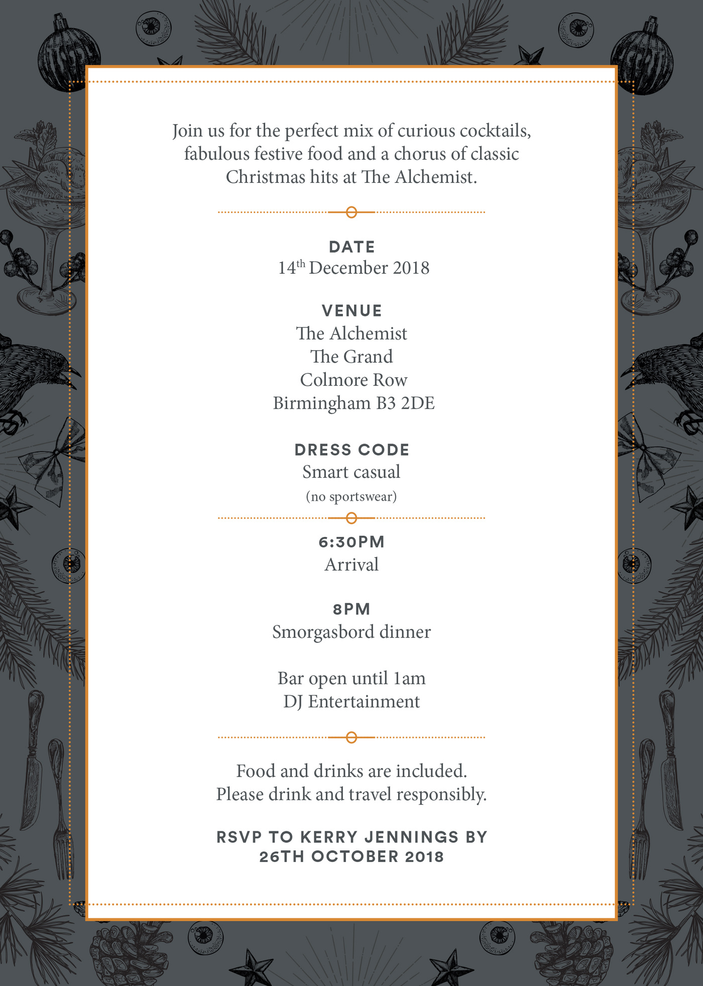 Lara-Jane van Antwerpen - Christmas Office Invite Back