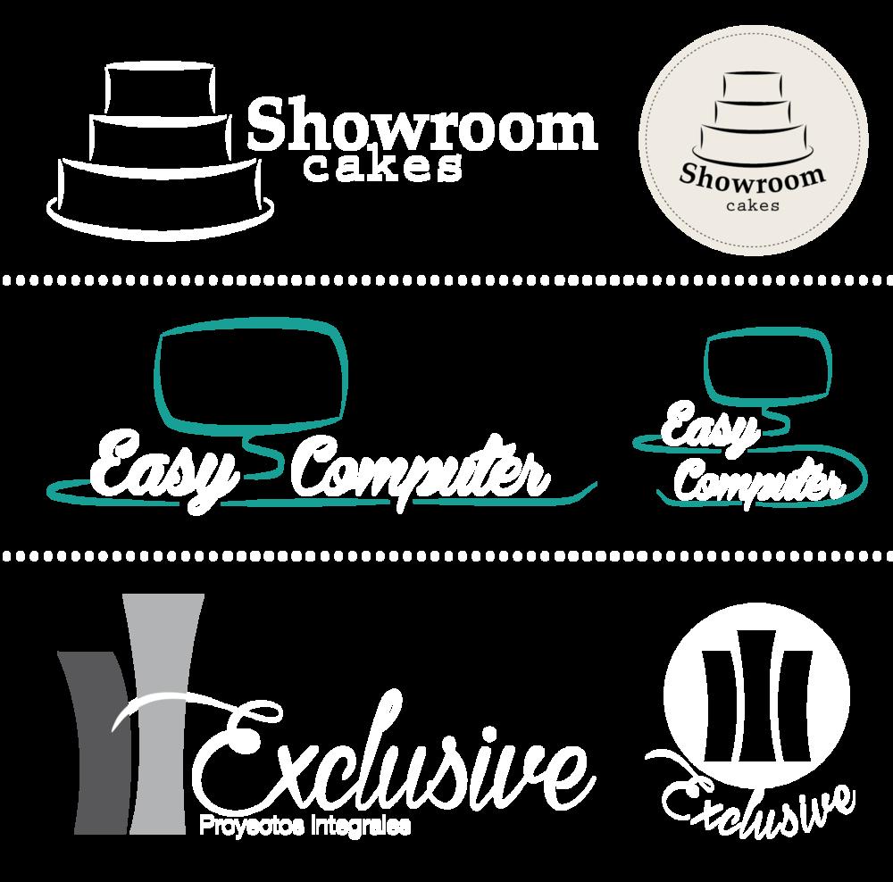 Portfolio Mónica Gil - Creación de logotipos en diferentes versiones para clientes distintos. Diversas empresas, 2014