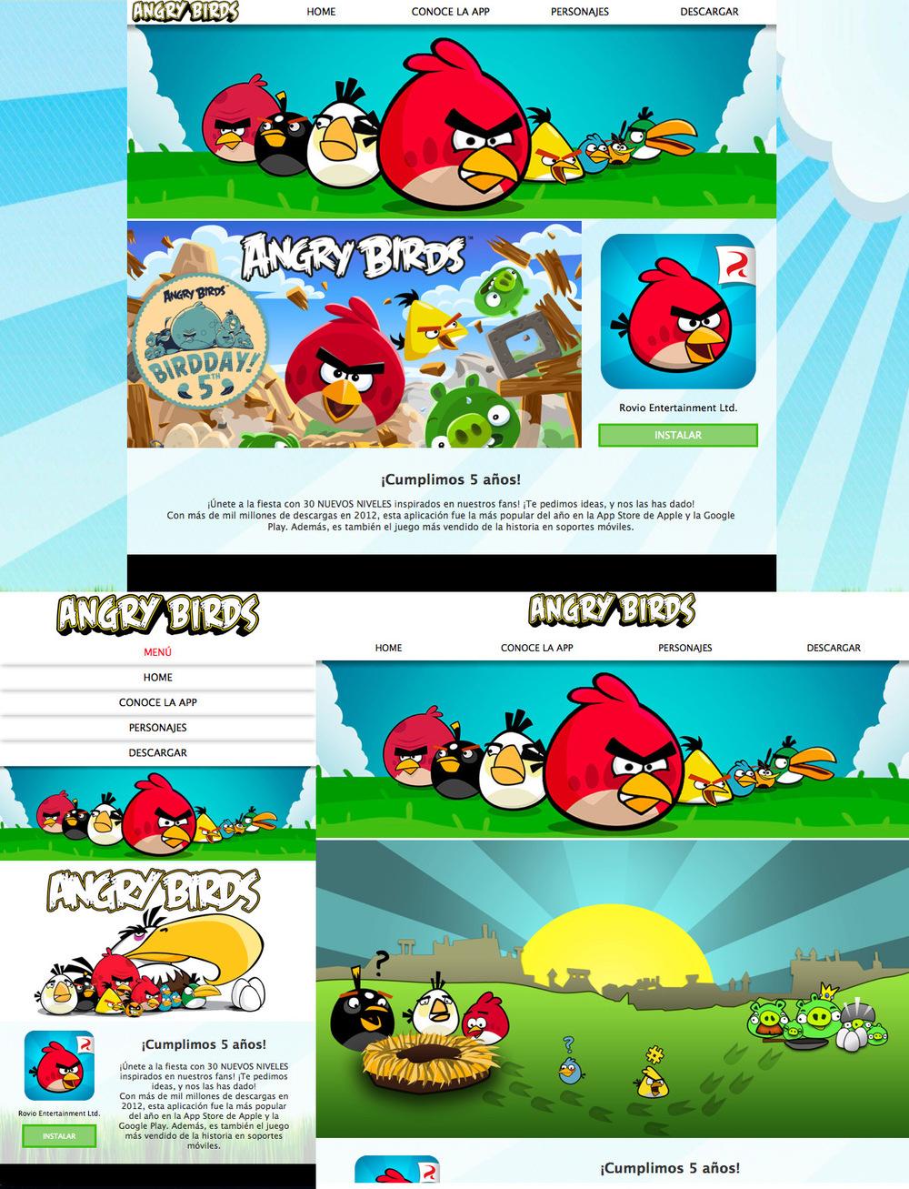 Portfolio Mónica Gil - Página Web no oficial de la aplicación Angry Birds con diseño responsive, creada con HTML5 y CSS3 a través de Dreamweaver. Esta página se adapta a todos los dispositivos. http://monicagilgraphics.com/angrybirds