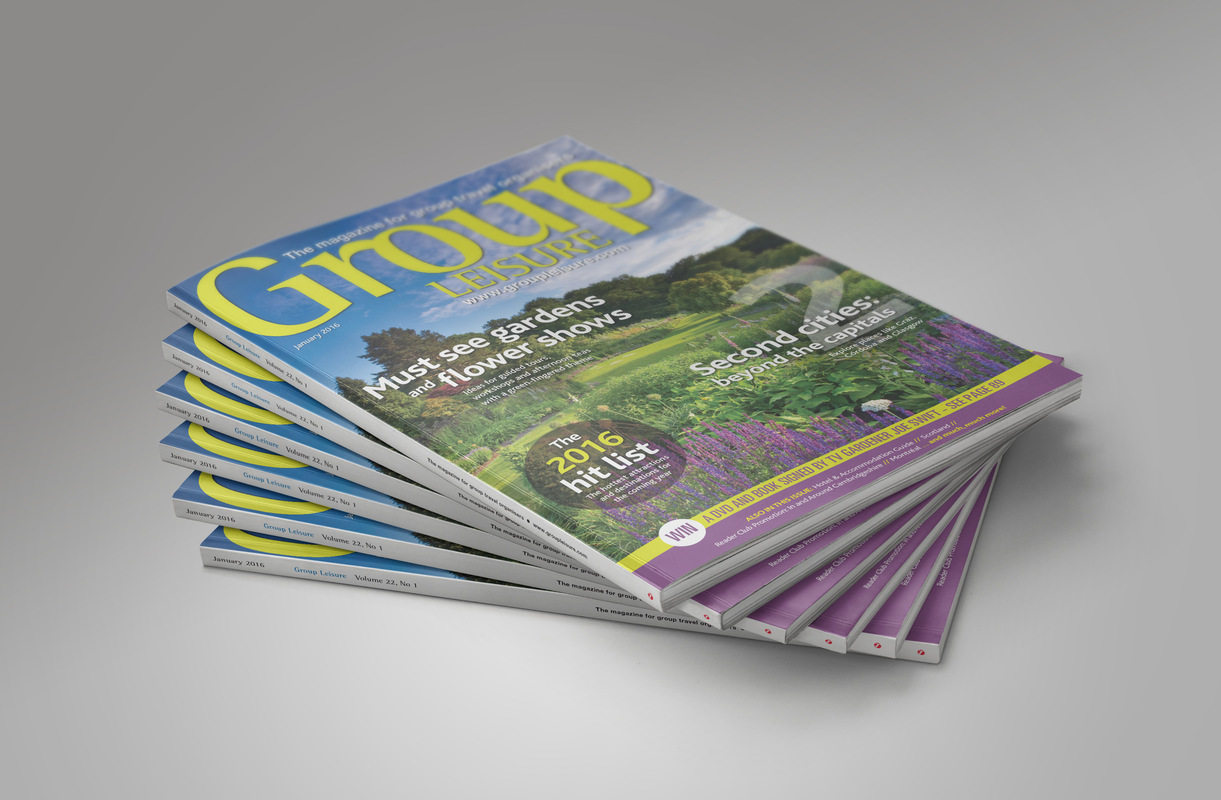 Pip Brewster - Group Leisure, a monthly magazine I helped to design, showcased all types of events/activities within the UK and abroad. The magazine also provided information on upcoming events for larger organised groups, which wouldnt necessarily be found in a normal travel magazine.