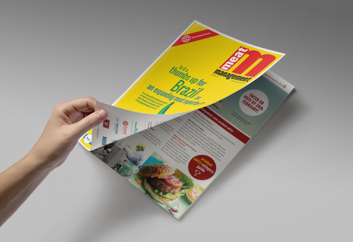 Pip Brewster - Meat Management magazine focuses solely on the meat industry, providing information on packaging and labelling, interviews with key people within the industry and even thoughts on the legal side of things.