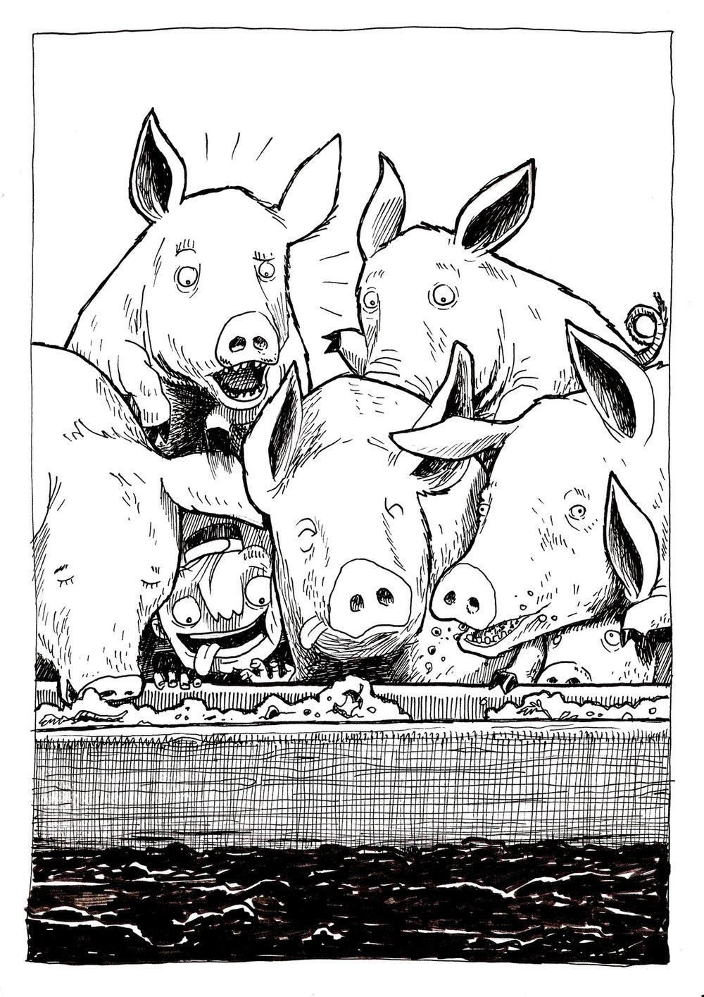 Shimons Hands - Er hätte gern seinen Hunger mit den Futterschoten gestillt, die die Schweine fraßen; aber niemand gab ihm davon. Da ging er in sich und sagte: Wie viele Tagelöhner meines Vaters haben mehr als genug zu essen und ich komme hier vor Hunger um.