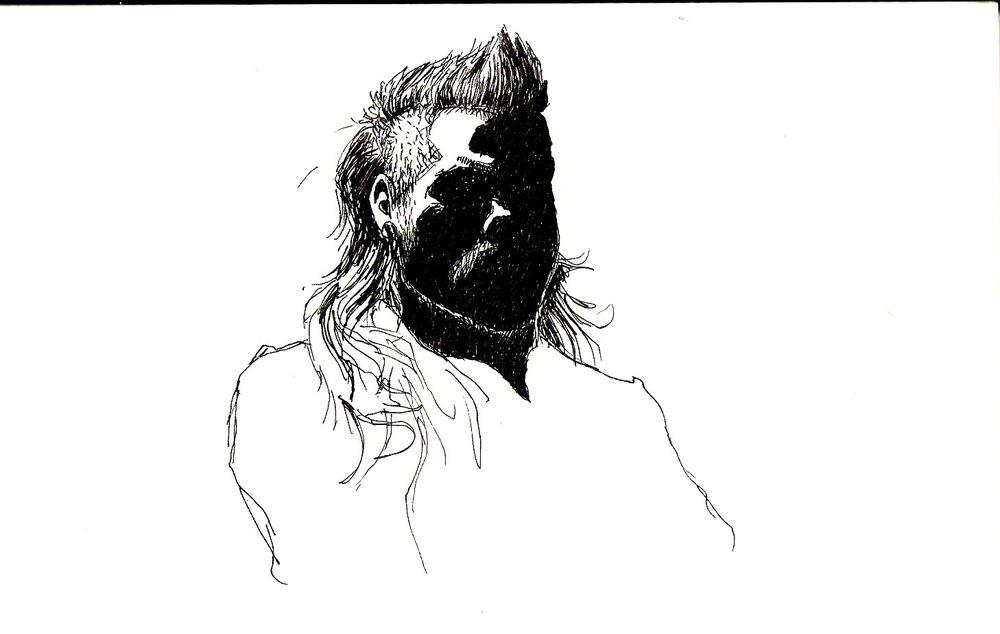 Shimons Hands - Selbstportrait im Flughafenfenster...