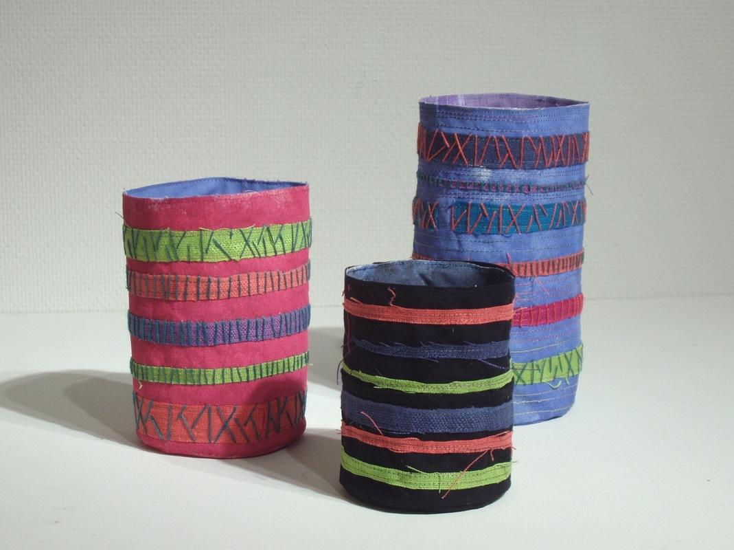 Krukmakeri & Textilverkstad - Jag tänker på Egypten. Textila kärl.