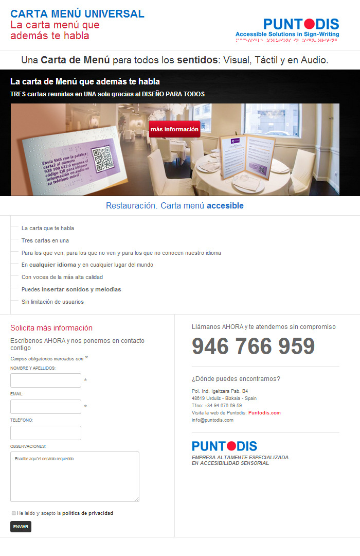 Portfolio - Gabriela Fer - microsite carta-menú