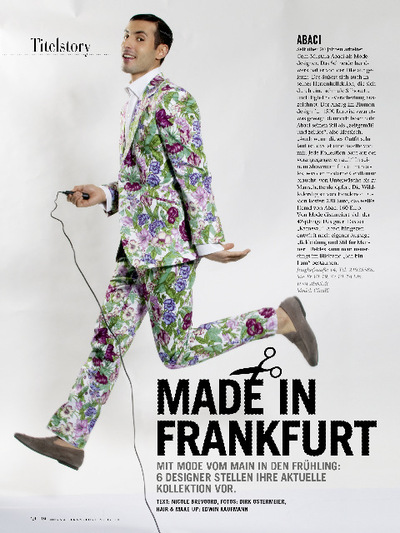 Edwin Kaufmann - Hair&MakeUp Artist - FRANKFURT JOURNAL