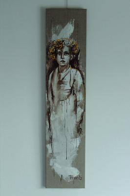 Galerie op 11 - Geen titel acryl en bister op linnen oktober 2012