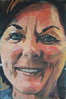 Galerie op 11 - Portret burgemeester acryl op linnen mei 2016