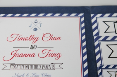 Kimberly Errey - Nautical Wedding Invitations