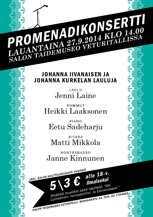 Emmi Nääppä - Juliste promenadikonsertille Illustrator, InDesign