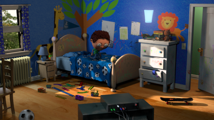 Montana Jade - Final Pass, Maya, MR, Mudbox, Boys Bedroom, Lighting, Texturing