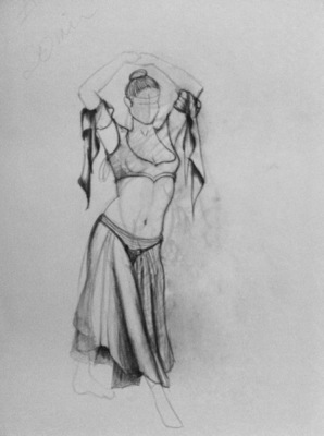 Montana Jade - 20 minute sketch. Folds