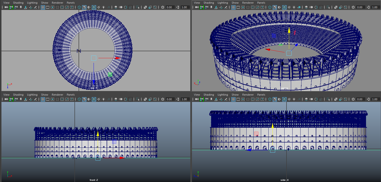 Montana Jade - High Poly Colosseum in Maya.