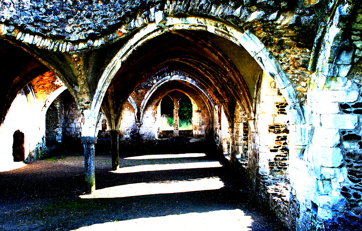 Creative Bytes Images - Colourful Abbey Ruins